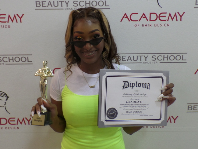 Ajunee - HAIR DESIGN Graduate 07/18/2020